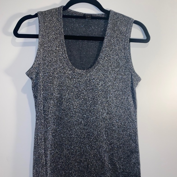 Shiny silver J. Crew sleeveless top Xs